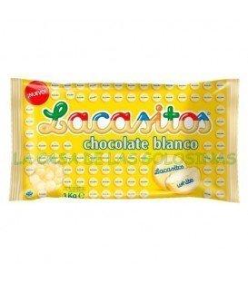 LACASA BOLSA DE LACASITOS BLANCO 1KG  COLOR-Blanco MARCA-LACASA GLUTEN-CHUCHES SIN GLUTEN FORMATO -BOLSAS DE 1 KG SABOR-CHOCOLATE BLANCO