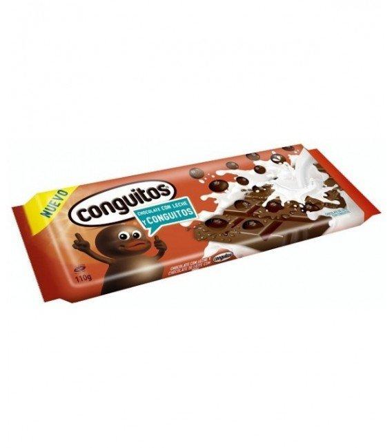 LACASA PACK TABLETAS CHOCOLATE CON LECHE CONGUITOS 10 U
