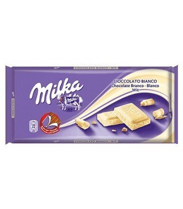 MILKA CHOCOLATE BLANCO 100 GR 18UDS