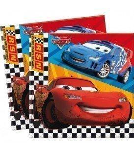 SERVILLETAS CARS 20UDS  FORMATO -20 UNIDADES LICENCIA-CARS ACCESORIOS FIESTA-SERVILLETAS EVENTO-CUMPLEAÑOS