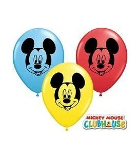 GLOBOS DE LATEX MICKEY MOUSE 8UDS
