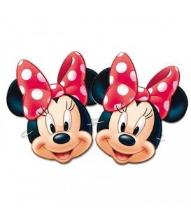 CARETAS MINNIE MOUSE 6UDS