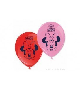 GLOBOS DE LATEX MINNIE 8 UDS