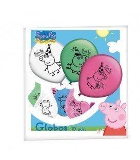 GLOBOS PEPPA PIG 8 UDS