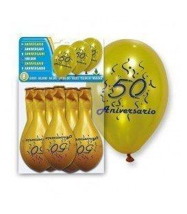 GLOBOS DE LATEX 50 ANIVERSARIO