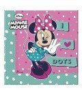 SERVILLETAS MINNIE DOTS 20 UDS