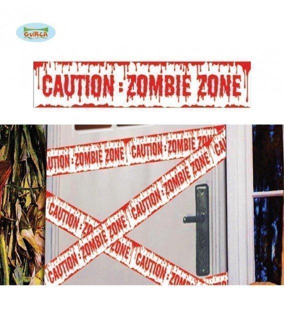 CINTA CAUTION ZOMBIE 600X12 CM