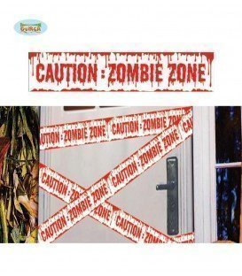 CINTA CAUTION ZOMBIE 600X12 CM