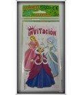 INVITACIONES DE CUMPLEAÑOS PRINCESAS 6 UDS