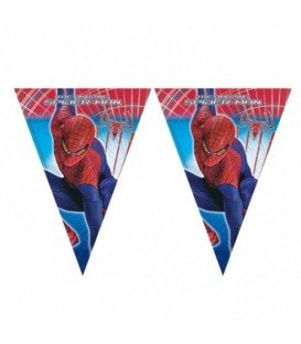 BANDERIN TRIANGULO SPIDERMAN 2.3 MTS
