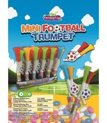MINI FOOTBALL TRUMPET 30 UNIDADES