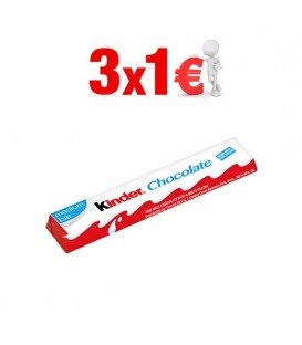 KINDER CHOCOLATE MEDIUM BAR 3X1€