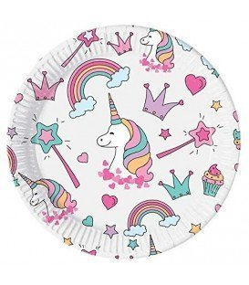 PLATOS UNICORNIO MAGIC 8UDS