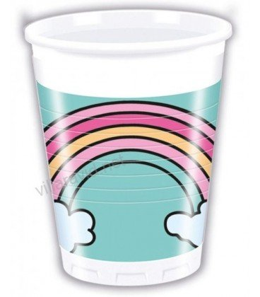 VASOS UNICORNIO MAGIC 8UDS