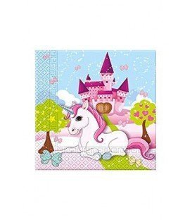 SERVILLETAS UNICORNIO MAGIC 20UDS