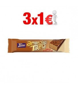 TIRMA CHOCOLATE CON AVELLANAS 3x1€
