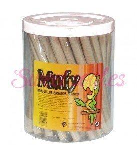 MUFY BARQUILLOS DE CHOCOLATE BLANCO 90U