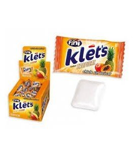 CHICLES KLETS TROPICAL SIN AZUCAR 200UDS