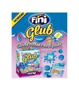 CHICLES FINI GLUB FRAMBUESA 200UDS