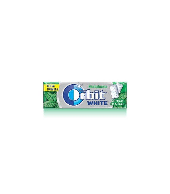 CHICLES ORBIT WHITE HIERBABUENA 1 BLISTER