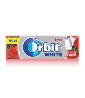CHICLES ORBIT WHITE FRESA 1 BLISTER