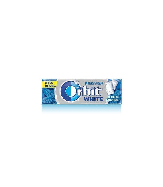 CHICLES ORBIT WHITE MENTA SUAVE 1 BLISTER