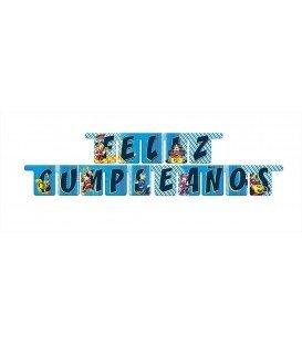 GUIRNALDA FELIZ CUMPLEAÑOS MICKEY MOUSE 3MTS
