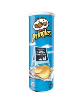 PRINGLES SALT AND VINEGAR 160GRS