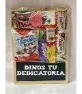 PIZARRA DE CHOCOLATINAS Y DEDICATORIA
