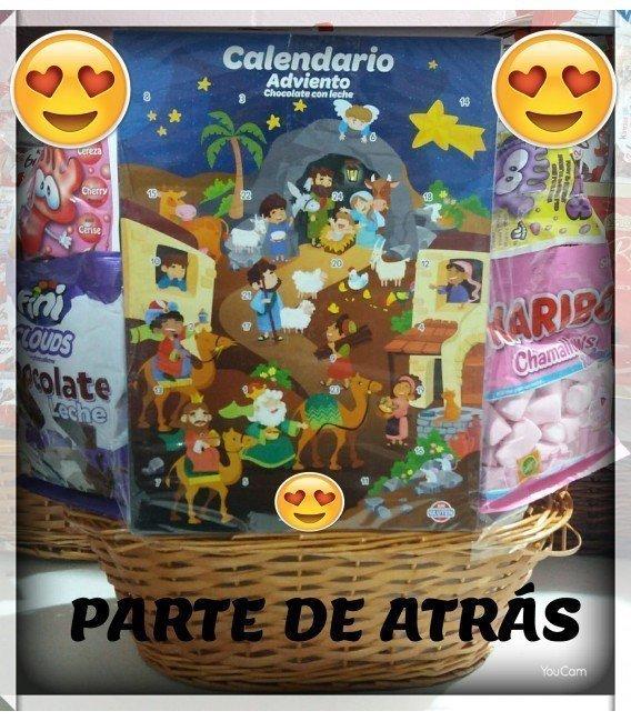 CESTA DE CHOCOLATINAS MEDIANA