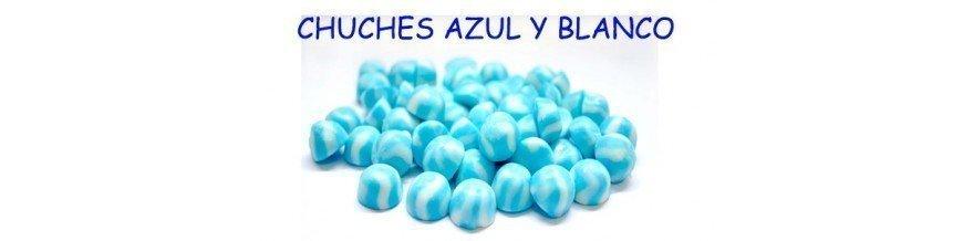 CHUCHES DE COLOR AZUL Y BLANCO