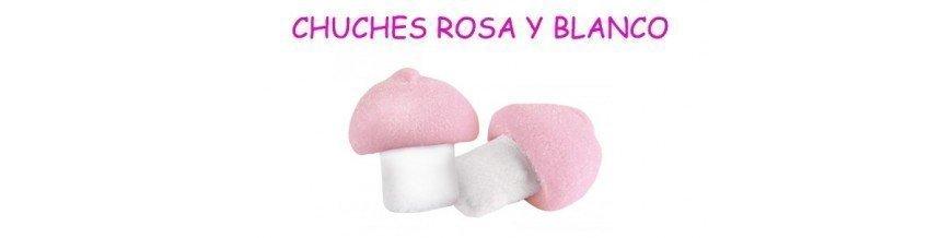 CHUCHES ROSA Y BLANCO